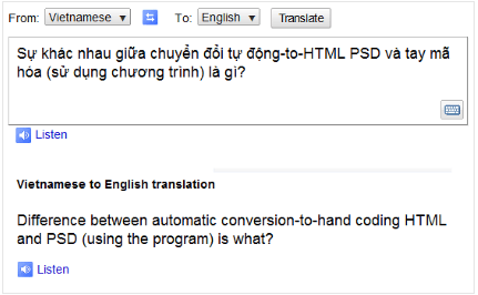 Hand coded PSD to HTML and automated translation