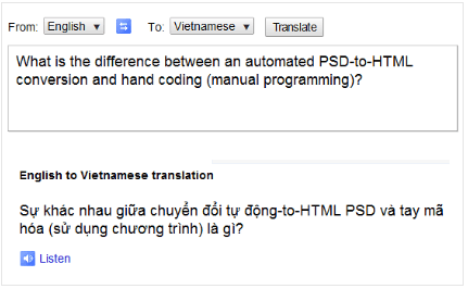 PSD to HTML translation