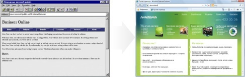 The Web and PSD to HTML conversion in 1990s and 2010