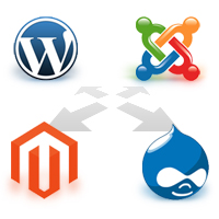 CMS - WordPress, Drupal, Joomla and Magento