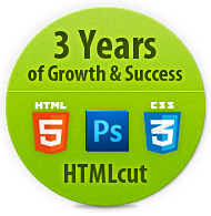 3 Years of PSD to HTML Conversion Company HTMLcut