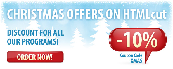Xmas Discount on PSD to HTML