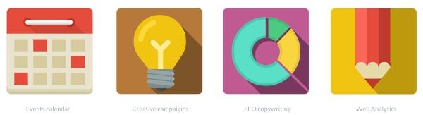 Flat icons - WebdesignerDepot.com